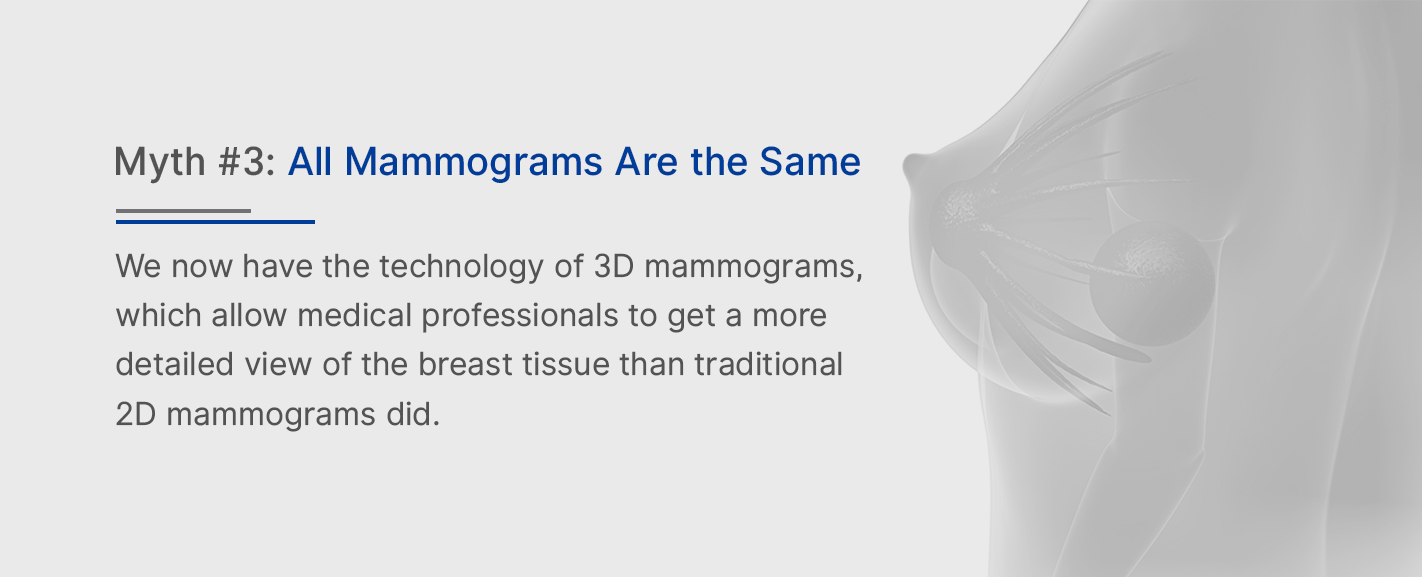 Myth 3: All Mammograms Are The Same
