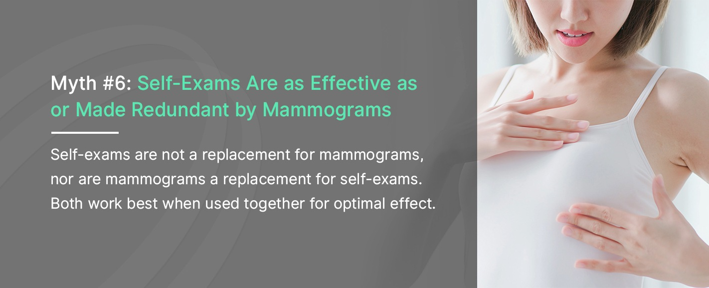 Myth 6: Self-Exams Are As Effective as or Made Redundant by Mammograms