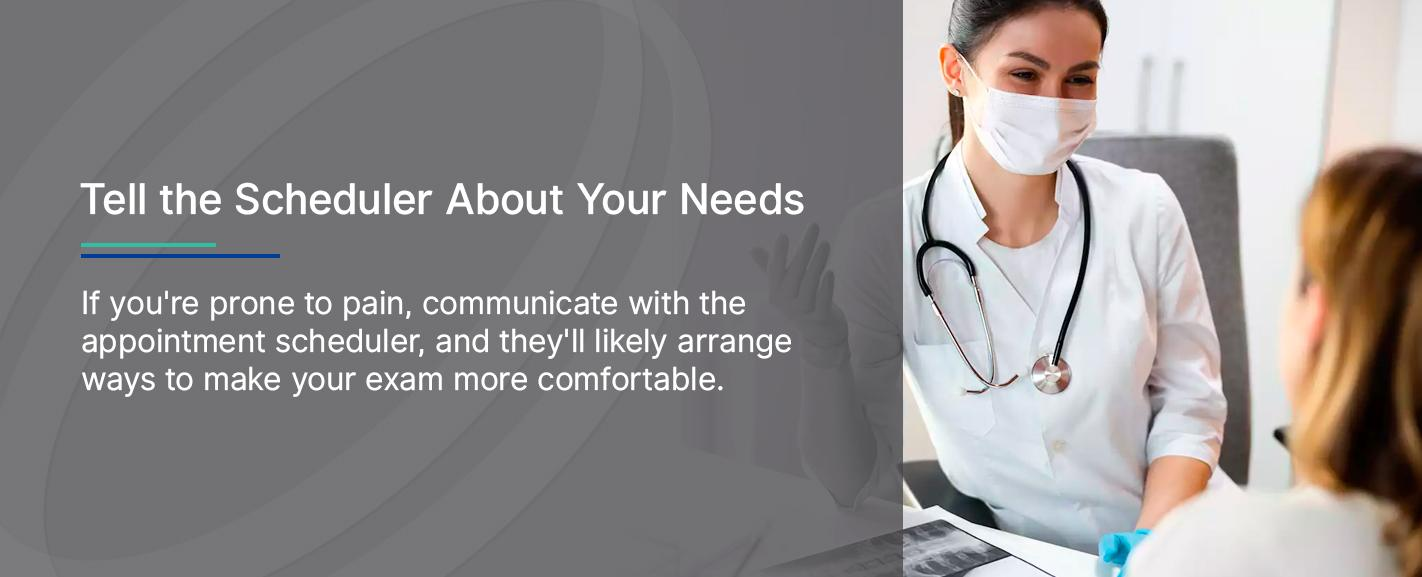 Tell the Mammogram Scheduler About Your Needs